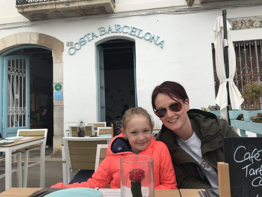 lunchen bij restaurant Costa Barcelona in Sitges.