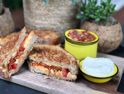 Spaanse tosti met chorizo en tomaat