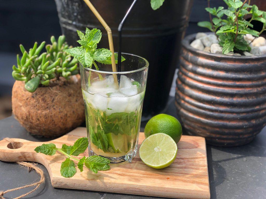 recept om zelf een alcoholvrije mojito te maken met munt en limoen