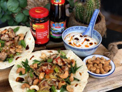 pittige Chinese kip wraps: gezond en lekker