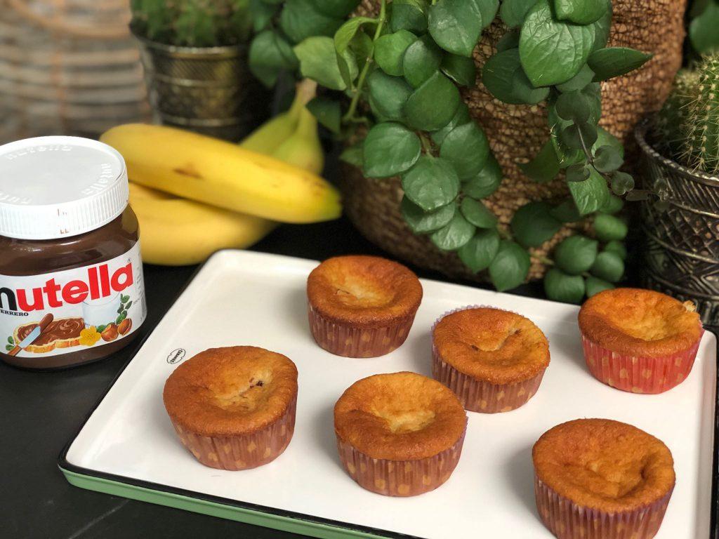 recept bananen cupcakes met Nutella