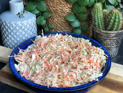 coleslaw met wortel en spitskool