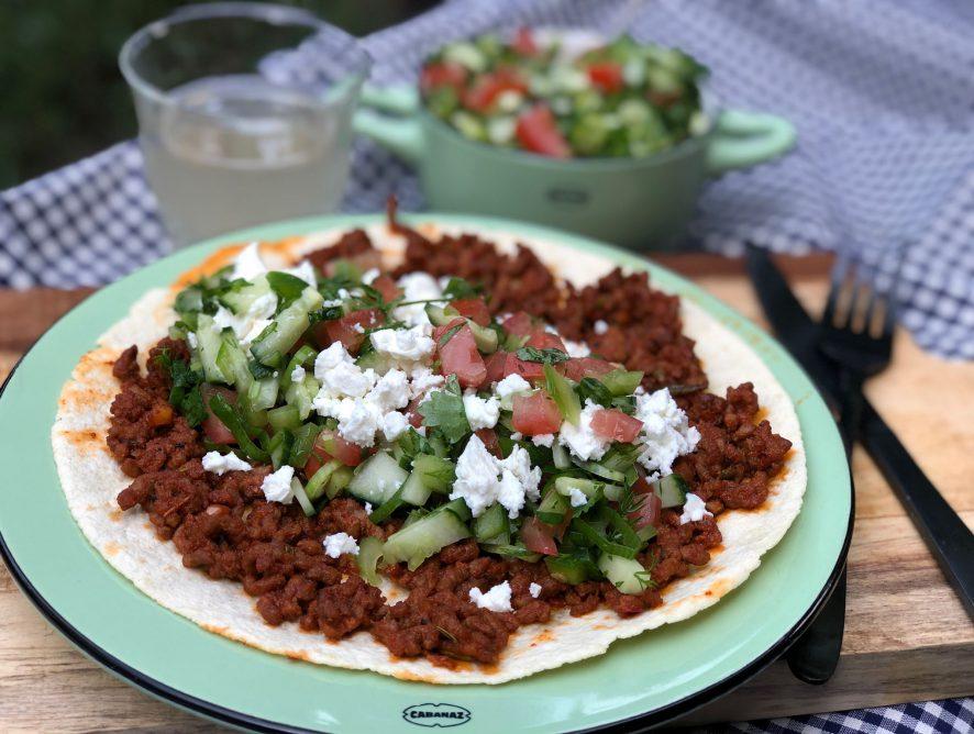 gezonde Turkse pizza maken