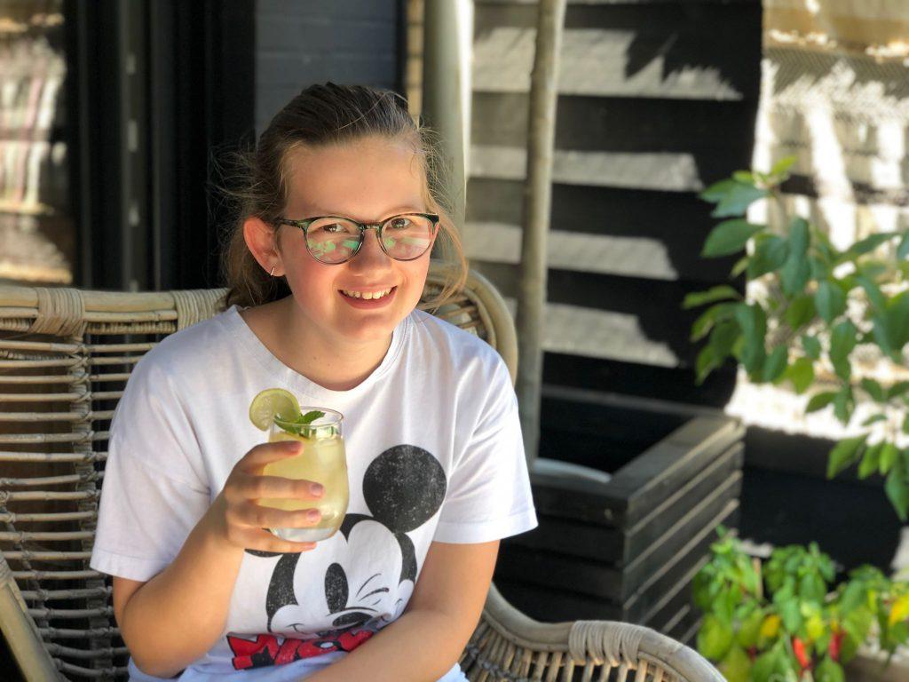 ijsthee met citroen en gember, lekker recept ook voor kinderen