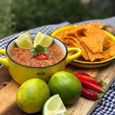 recept Mexicaanse salsa saus, lekker pittig!