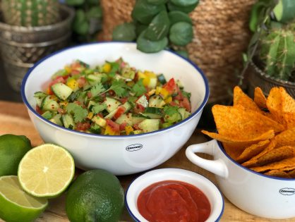 simpele Mexicaanse salsa salade