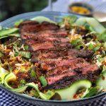 Aziatische biefstuk salade