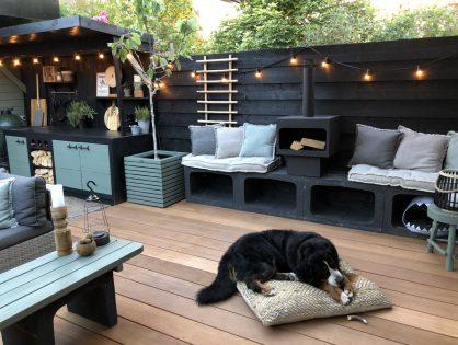 Onze buitenkeuken in de tuin