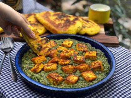 vegetarische Indiase Saag Paneer