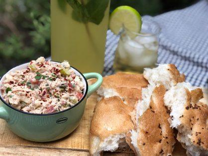 frisse tonijnsalade met zalm