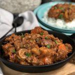Potjie kos stoofpot op Zuid Afrikaanse wijze