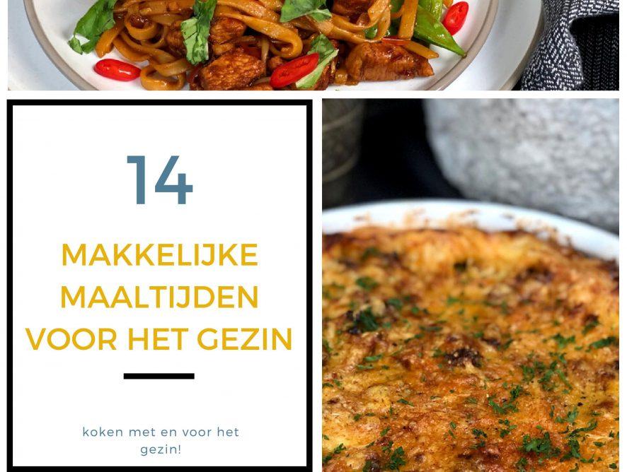 14 makkelijke maaltijden voor het gezin
