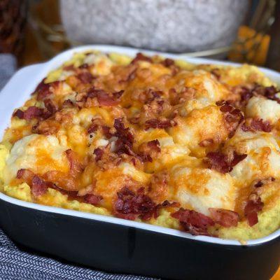 bloemkool ovenschotel met kaas en spek