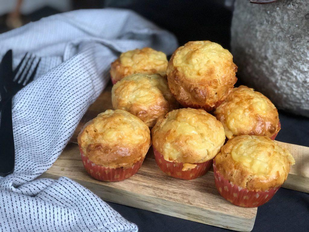 pittige kaasmuffins
