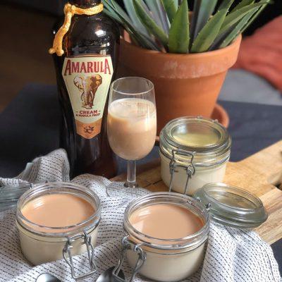 panna cotta met Amarula likeur