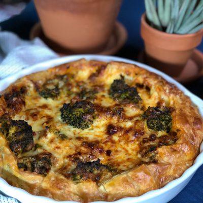 hartige broccoli taart met paprika