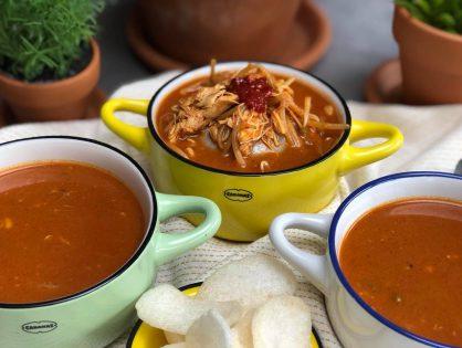 Indonesische tomatensoep met kip