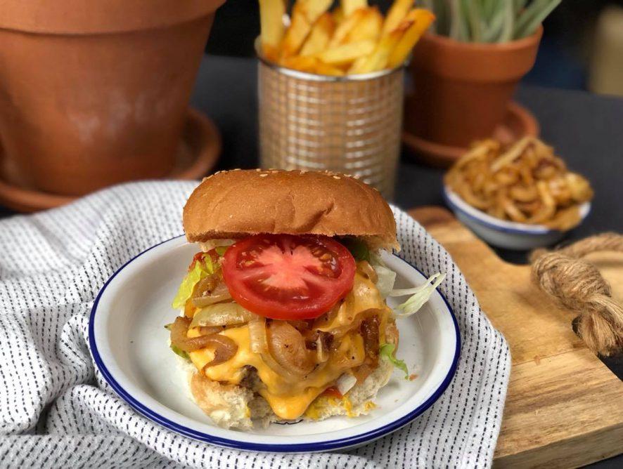 zelf een cheeseburger maken