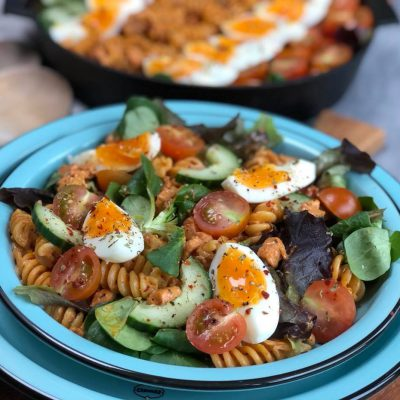 pastasalade met spekjes