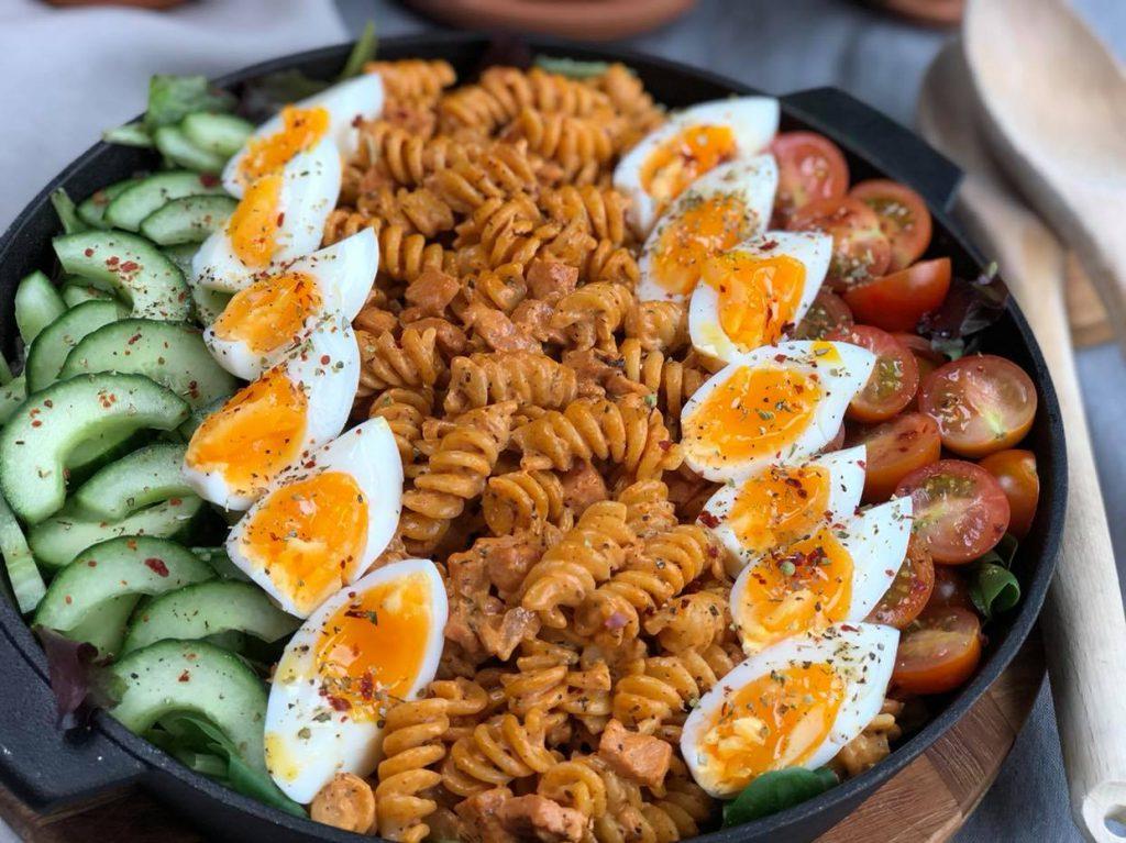 pastasalade met romige spekjes