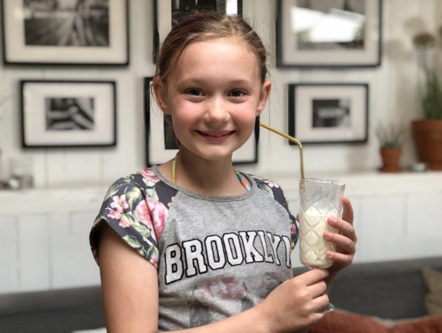 shake met banaan en melk: kidsproof