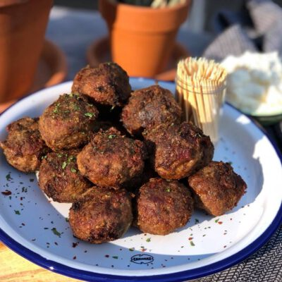gehaktballetjes met chorizo