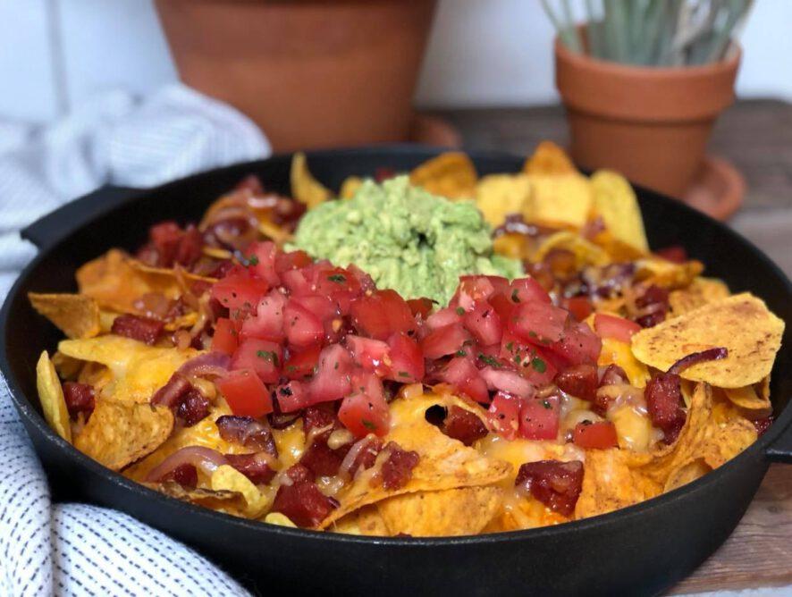 simpele nacho schotel met chorizo