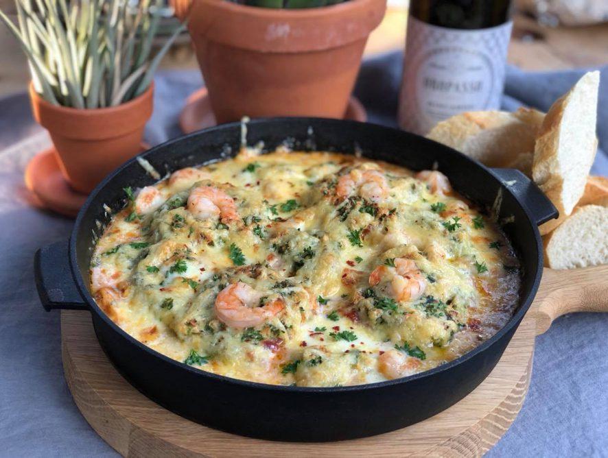 Italiaanse vis stoof met kabeljauw en garnalen