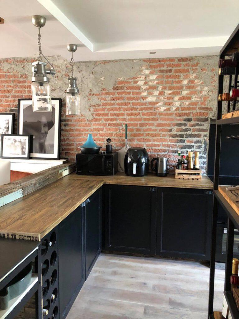onze zwarte keuken