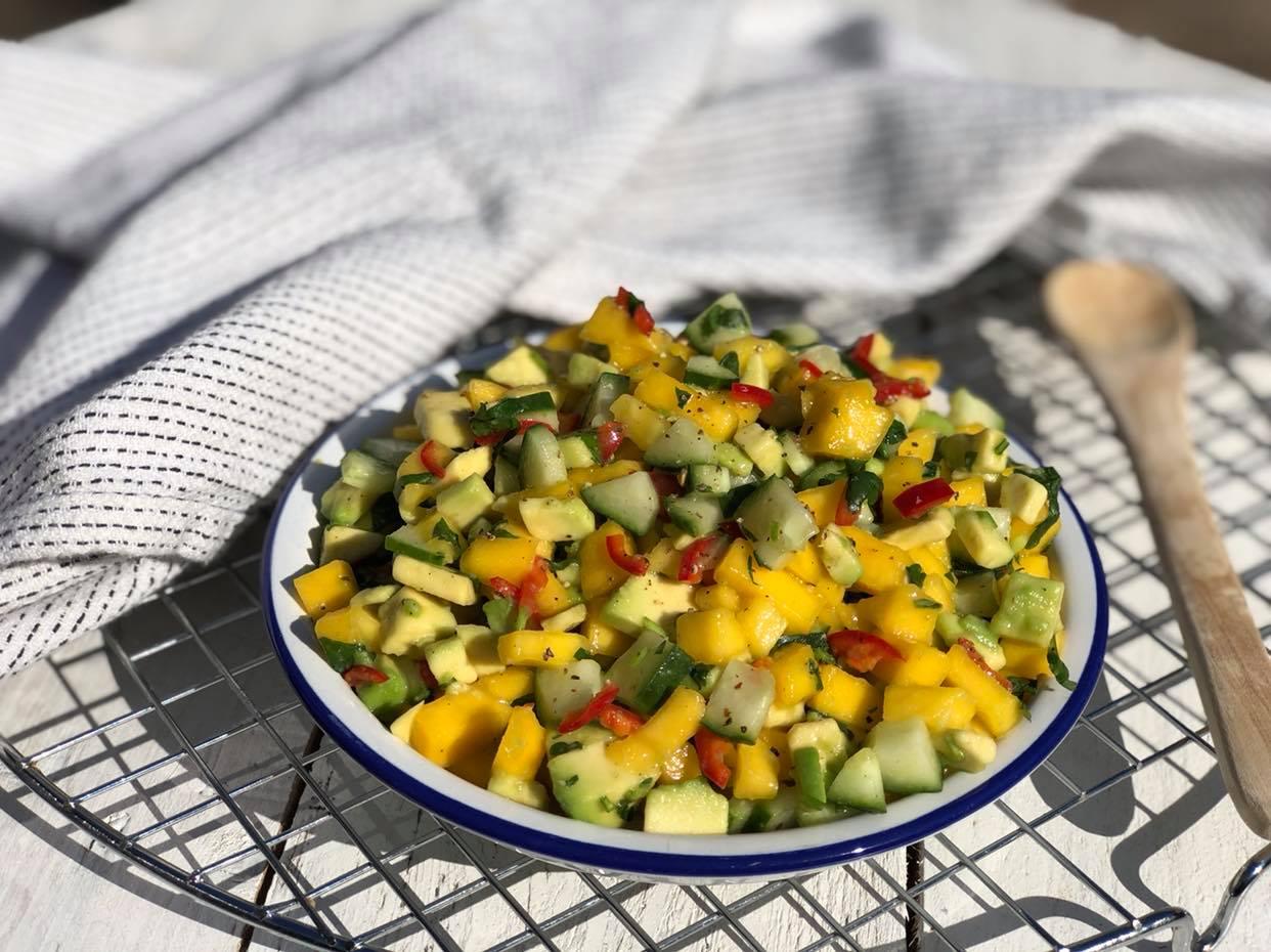 pittige mango salsa