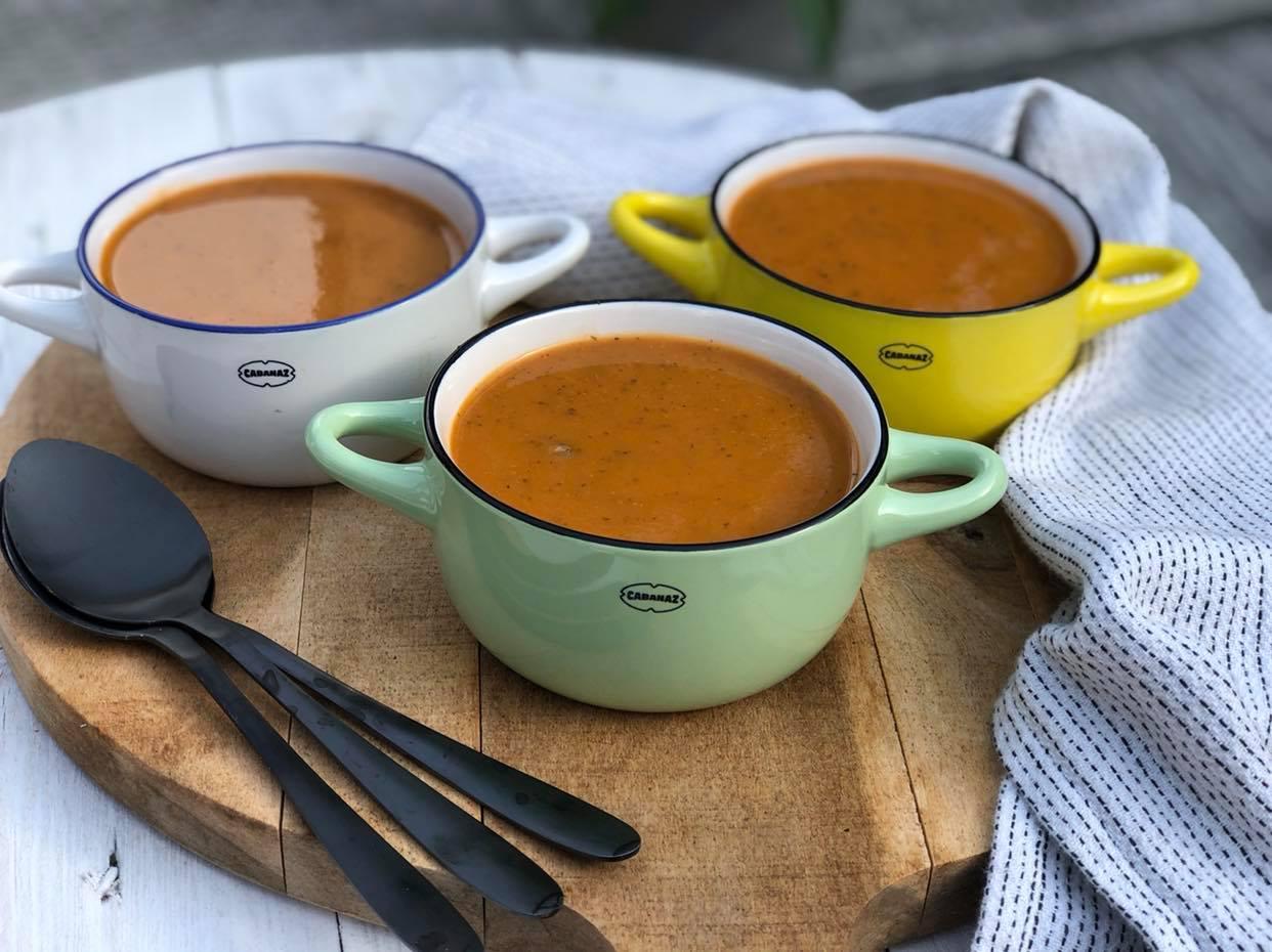 soep met courgette en tomaat