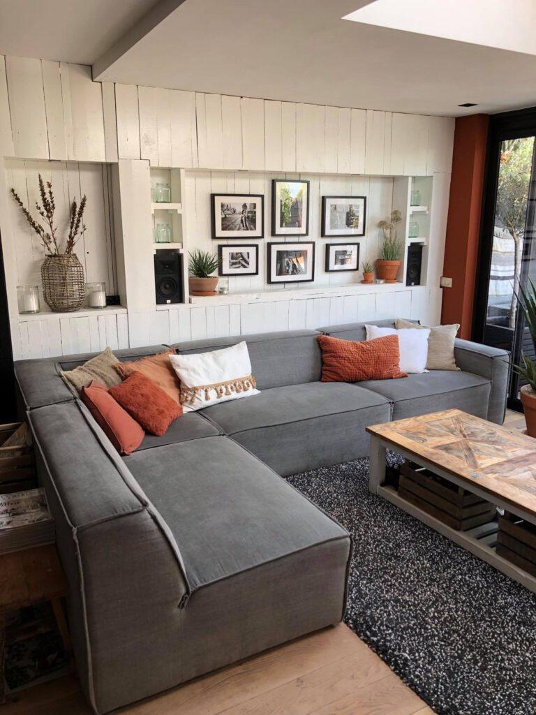 stoer Scandinavisch interieur met hout
