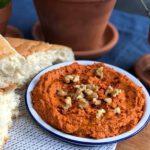 muhammara zelf maken, een Libanese dip met walnoten en paprika