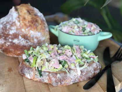ham prei salade maken: simpel recept