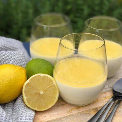 simpele panna cotta met citroen
