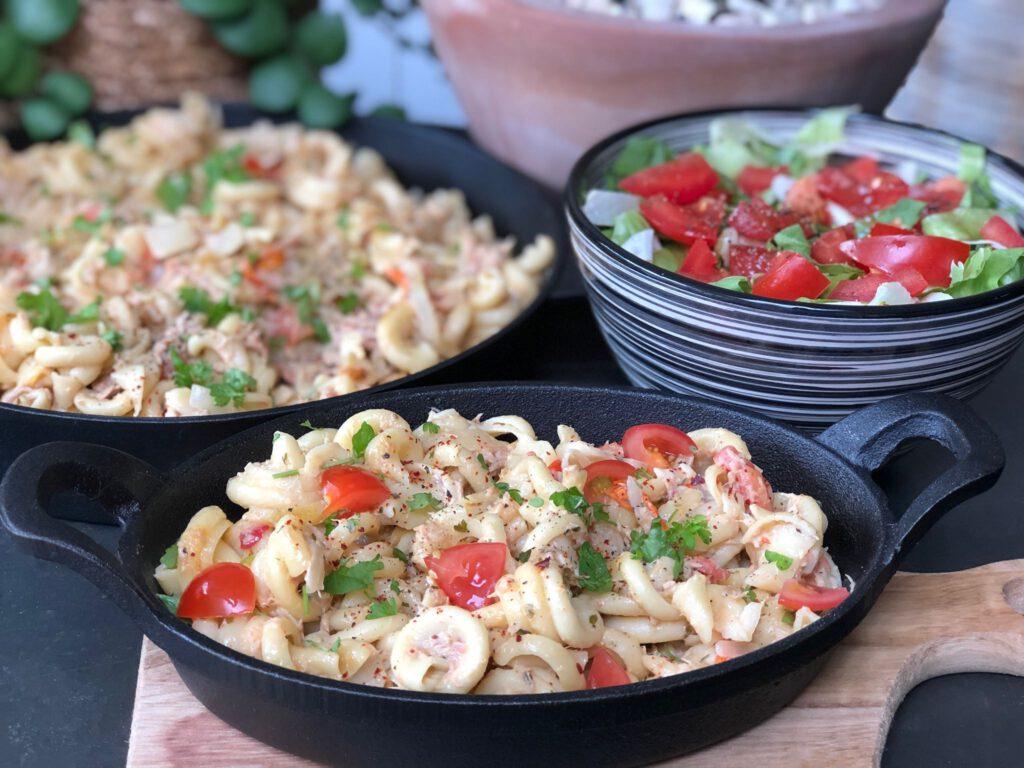 pasta met tonijn lekker bij een thuisproeverij met Gallo Family Vineyards