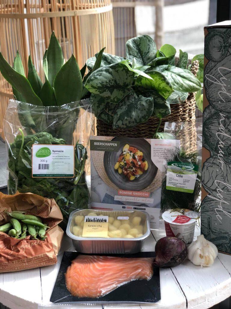 gnocchi met zalm uit de boerschappen gemaksbox