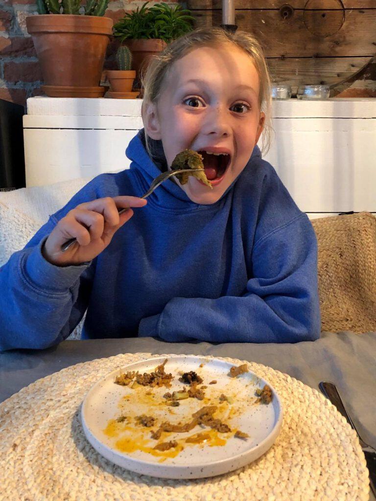 kinderen zijn gek op een hartige taart met broccoli