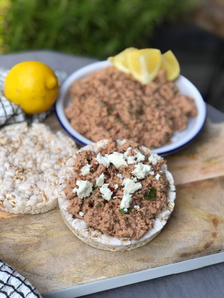 tonijnsalade met Italiaanse kruiden en feta