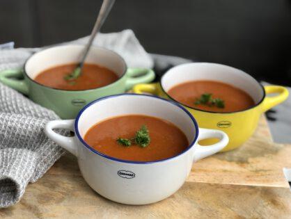 simpele tomatensoep met paprika
