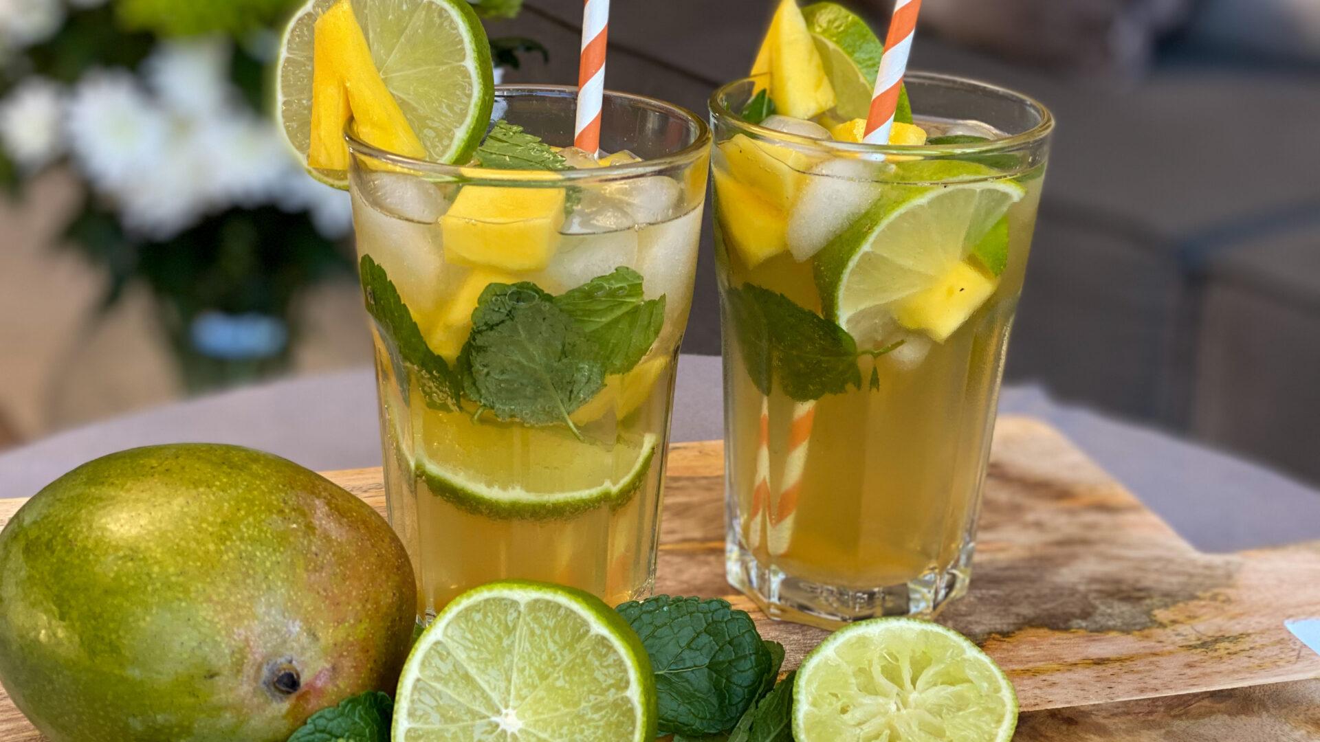 Alcoholvrije mojito met mango