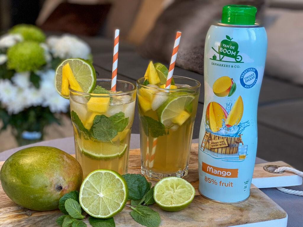 alcoholvrij moijto met mango