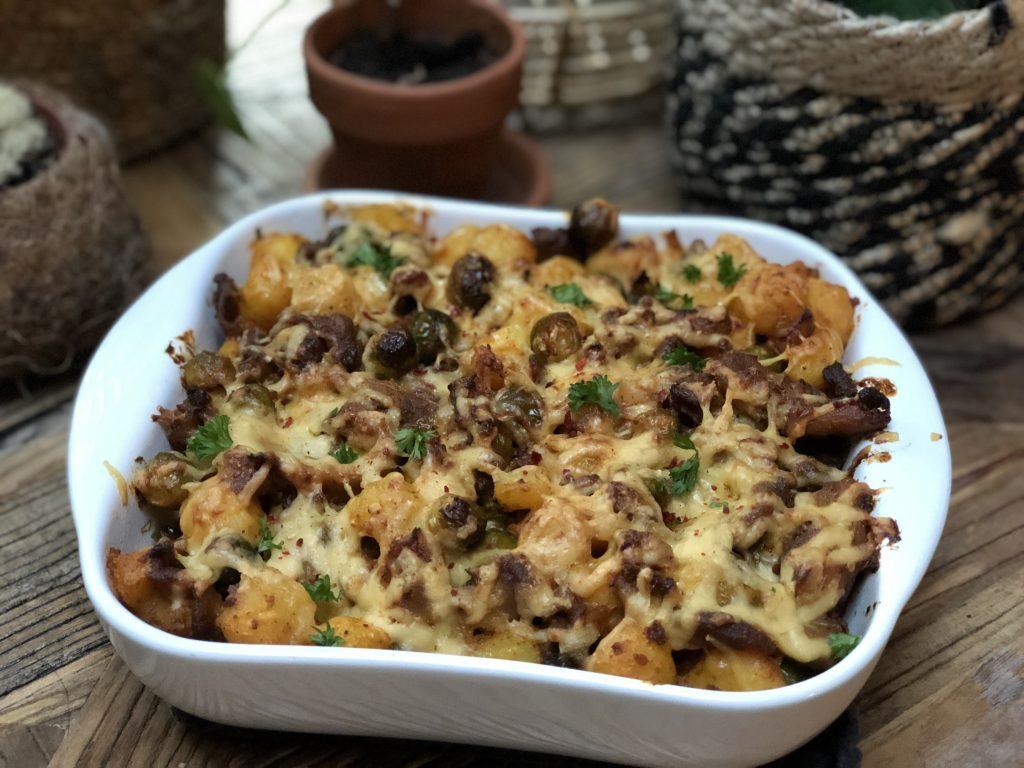 krieltjes ovenschotel met spruitjes en shoarma: 15 ovenschotel recepten