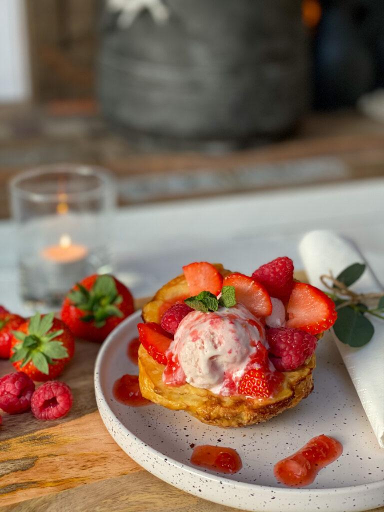 aardbeien-frambozen ijs maken zonder ijsmachine