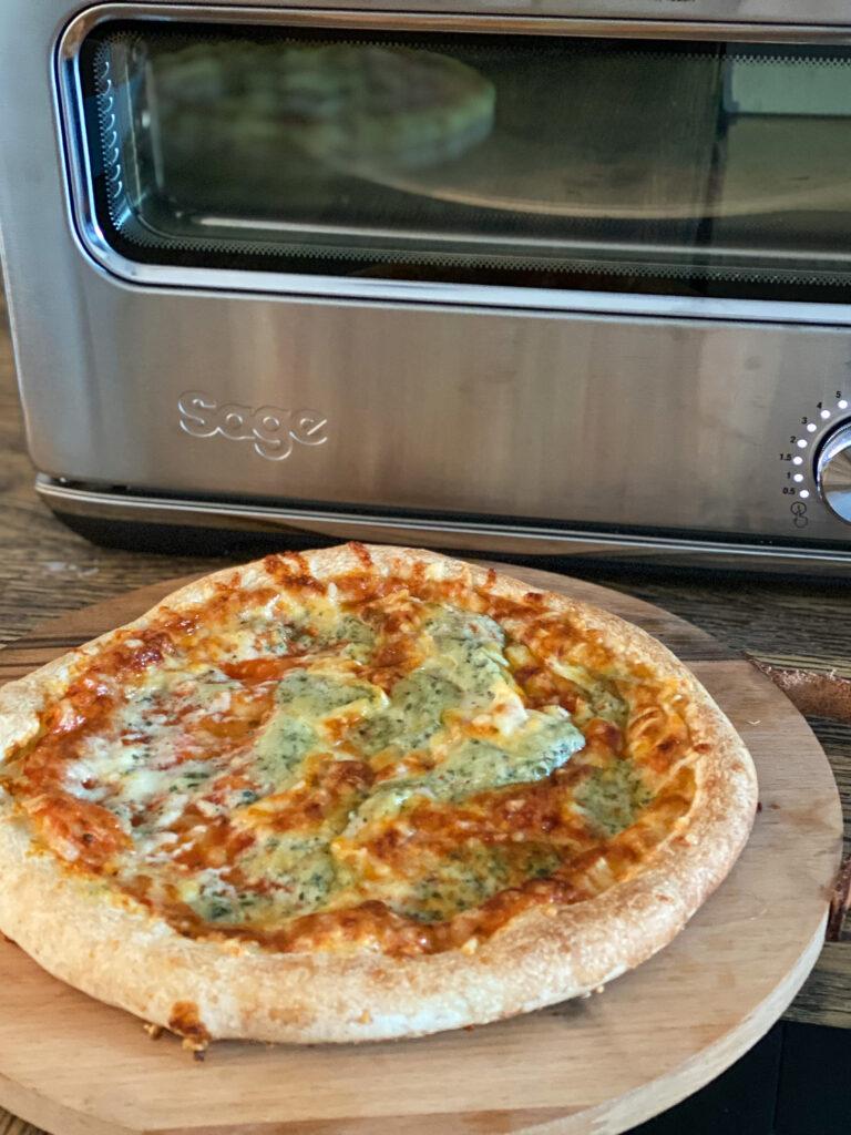diepvries bakken in pizza oven