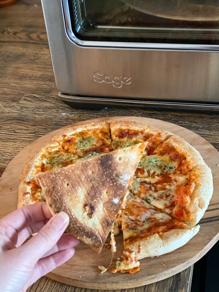 resultaat diepvries bakken in de Pizzaiolo van Sage