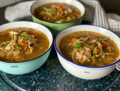 Kippensoep met soepkip en oosterse twist