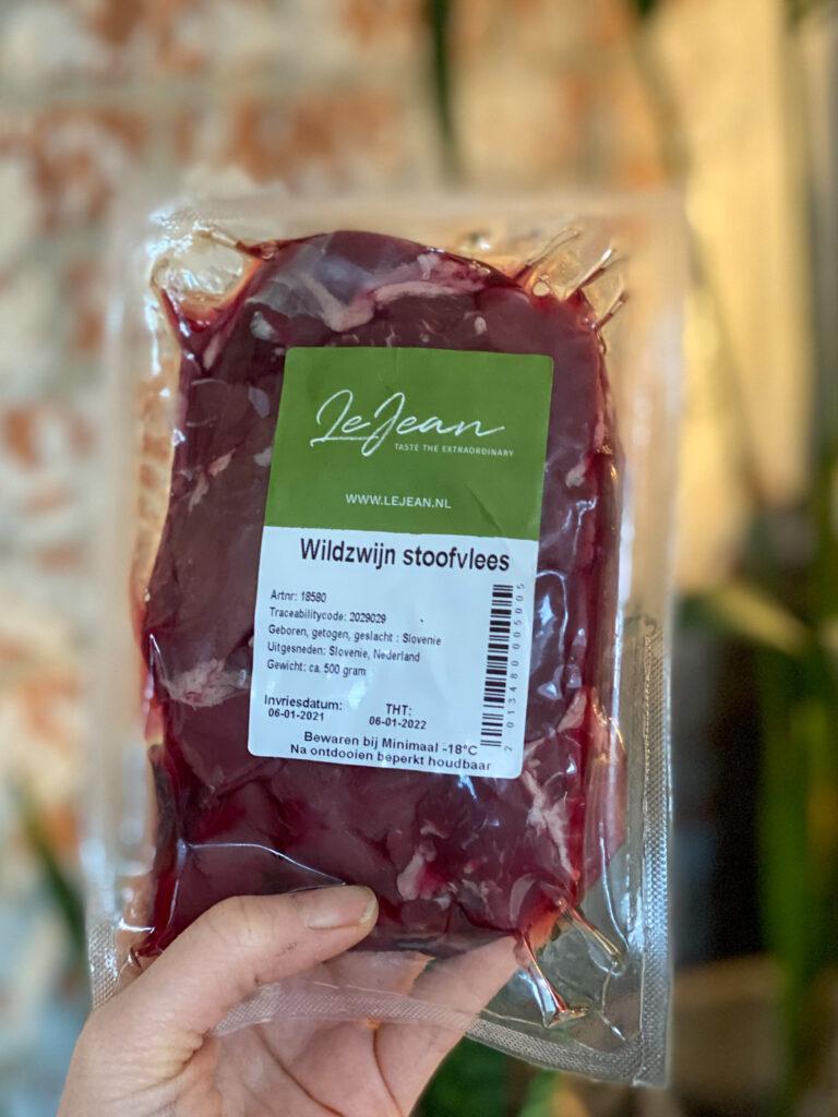 wildzwijn vlees online bestellen bij LeJean