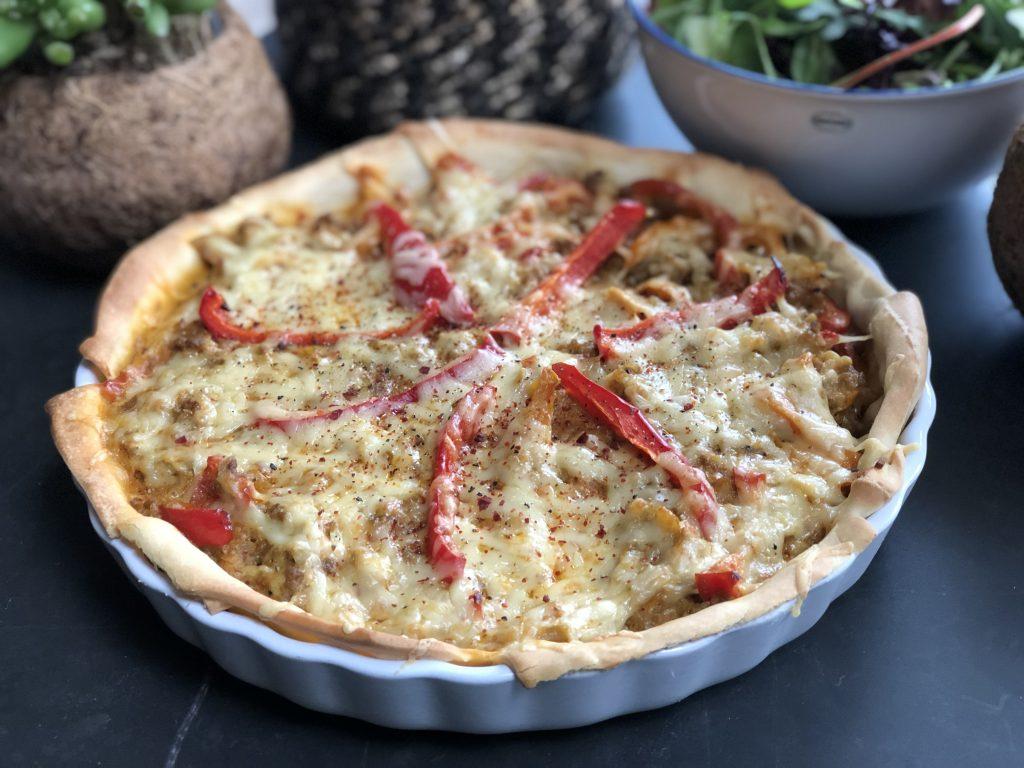 quiche met paprika en gehakt