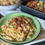 pasta met Boursin en spek